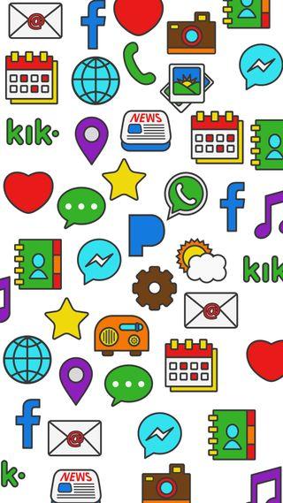 Обои на телефон шутка, пранк, иконки, апрель, icons all over, april fools