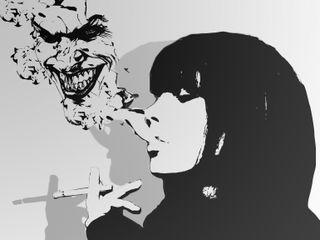 Обои на телефон дым, джокер