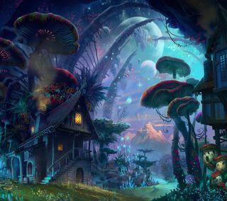 Обои на телефон поездка, грибы, город, абстрактные, shroom