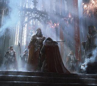Обои на телефон честь, фантазия, рыцарь, король, sir, kneeling
