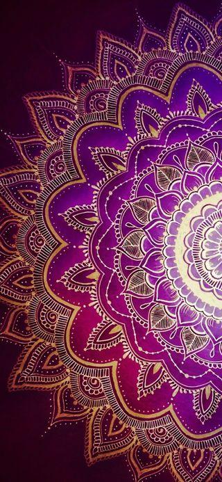 Обои на телефон мандала, шаблон, фиолетовые, симпатичные, красочные, дизайн, бохо, mandalas
