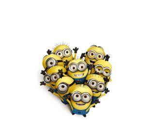 Обои на телефон формы, сердце, миньоны, забавные, желтые, minions heart, heart shape
