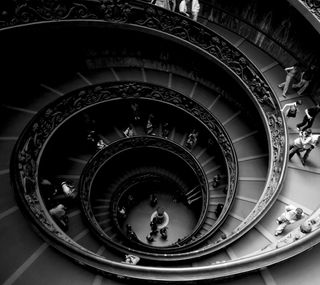 Обои на телефон спираль, лестница, vatican