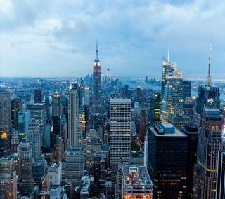 Обои на телефон нью йорк, огни, ночь, nyc night  lights, 2160x1920