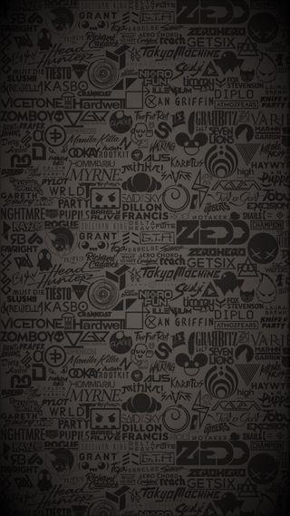 Обои на телефон черные, темные, серые, музыка, диджей, высказывания, stickerbomb, dj