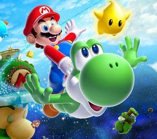 Обои на телефон геймер, счастливые, супер, марио, любовь, аниме, super mario bross, mario gamer, love