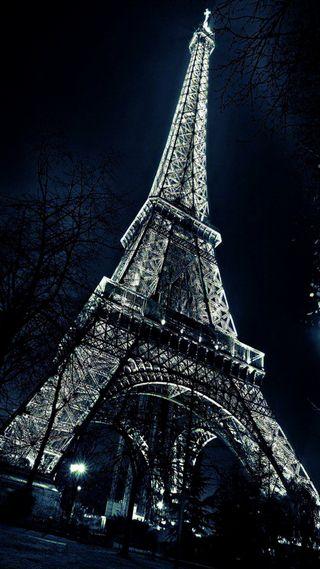 Обои на телефон эйфелева башня, франция, париж, ночь, башня
