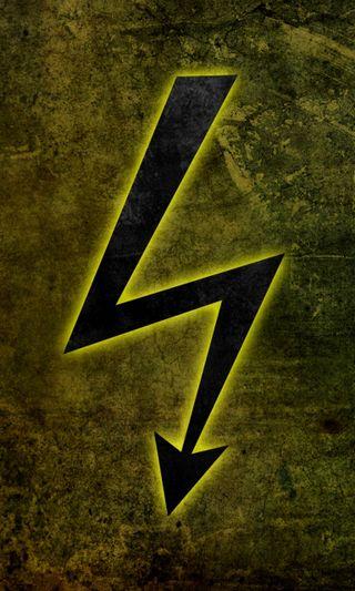 Обои на телефон электрические, символ, зеленые, желтые, абстрактные, electricity