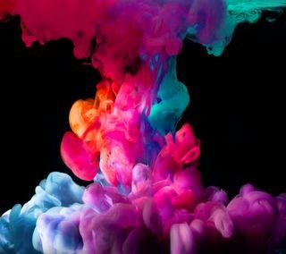 Обои на телефон nexus, красочные, цветные, облака, радуга, дым