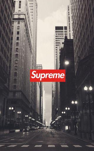 Обои на телефон черно белые, чикаго, улица, сша, ночь, логотипы, картина, город, usa, supreme, hypebeast