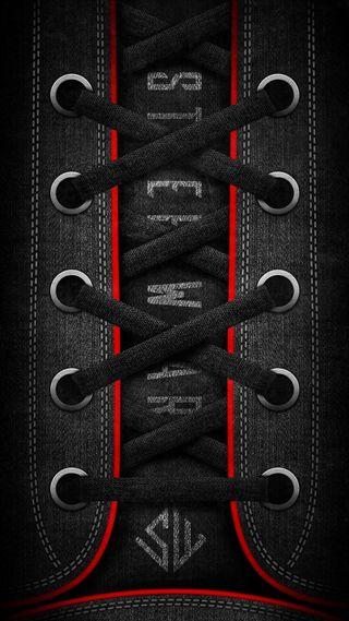 Обои на телефон обувь, темные, спорт, конверсы, веревка, sw, sport shoes, hd