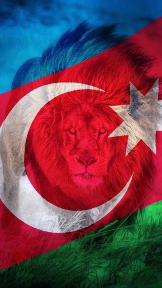 Обои на телефон флаги, флаг, турецкие, лев, баку, аслан, азербайджан, bayraq, azerbaycan