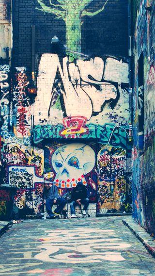 Обои на телефон граффити, улица, приятные, ок, крутые, классные, дорога, вечеринка