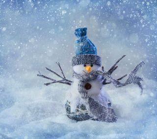 Обои на телефон снеговик, снег, сезон, рождество, приветствия, милые, season greetings, cute christmas snow man
