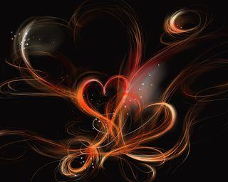 Обои на телефон коричневые, сердце, любовь, абстрактные, love, heart abstract