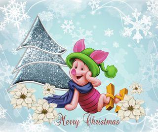 Обои на телефон снежинки, счастливое, рождество, дисней, piglet