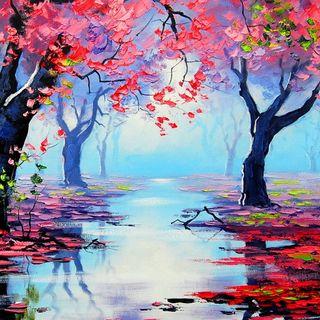 Обои на телефон река, природа, прекрасные, небеса, деревья