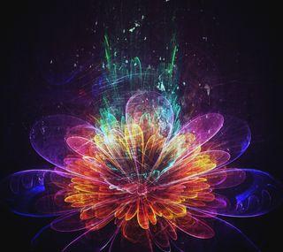 Обои на телефон фрактал, цветы, природа, неоновые, мотивация, любовь, дизайн, абстрактные, neongrunge, love