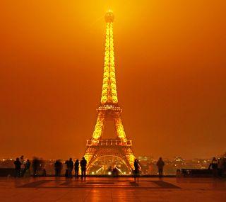 Обои на телефон эйфелева башня, франция, париж, ночь, место, башня, trocadero