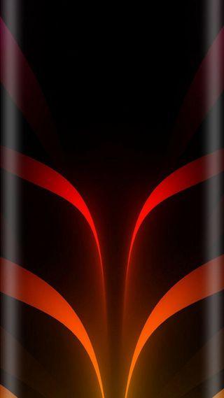 Обои на телефон стиль, оранжевые, красые, красота, грани, абстрактные, s7, edge style