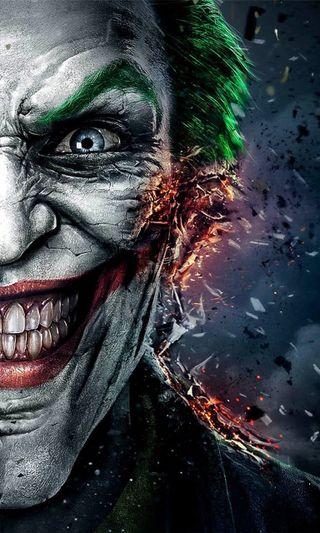 Обои на телефон пламя, фильмы, страшные, опасные, несправедливость, лицо, джокер, бэтмен, joker injustice, entertain