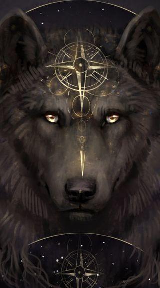 Обои на телефон племенные, фан, король, волк