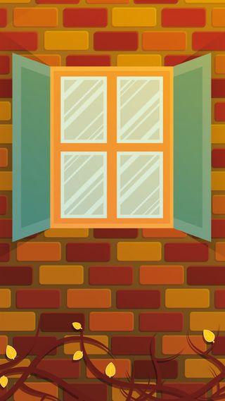 Обои на телефон окно, природа, осень, оранжевые, листья, времена года, autumn window