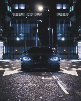 Обои на телефон купе, черные, улица, тюнинг, машины, м2, вид, бмв, автомобили, f87, bmw