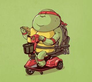 Обои на телефон черепаха, иллюстрации, ниндзя, дизайн, raphael fat, ninja turtle