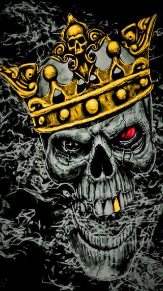 Обои на телефон корона, череп, красые, король, золотые