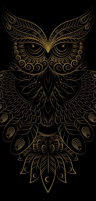 Обои на телефон бриллиант, черные, сова, система, птицы, маска, золотые, арт, masks, art, 2019