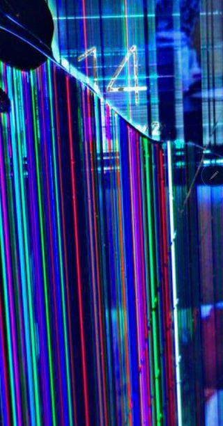 Обои на телефон эстетические, экран, телефон, сломанный, радуга, вейпорвейв, pixel