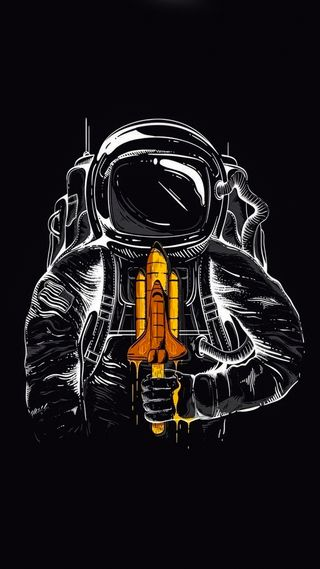 Обои на телефон ракета, космонавт, astro