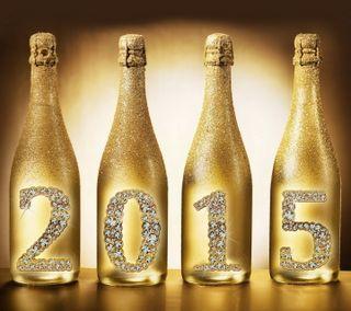Обои на телефон шампанское, счастливые, новый, золотые, бутылка, happy, 2015