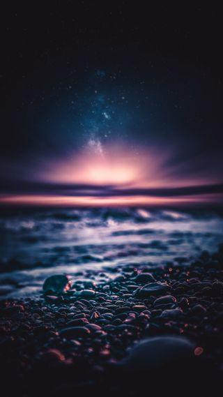Обои на телефон океан, ночь, закат, волны, sunset ocean, breathe