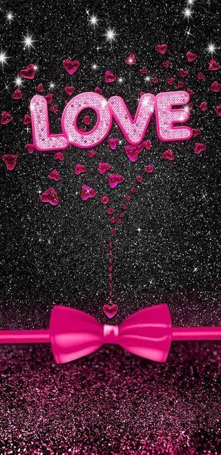 Обои на телефон девчачие, симпатичные, сверкающие, розовые, любовь, лук, блестящие, love