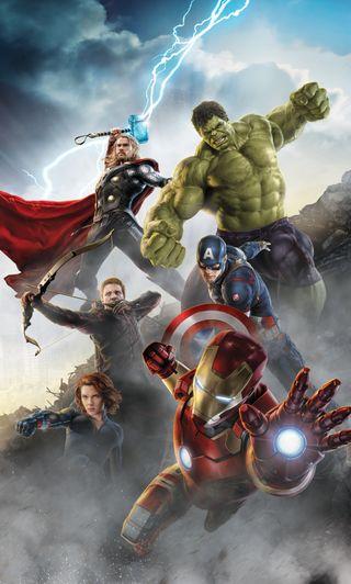 Обои на телефон эпоха, халк, ультрон, тор, мстители, америка, avengers 2