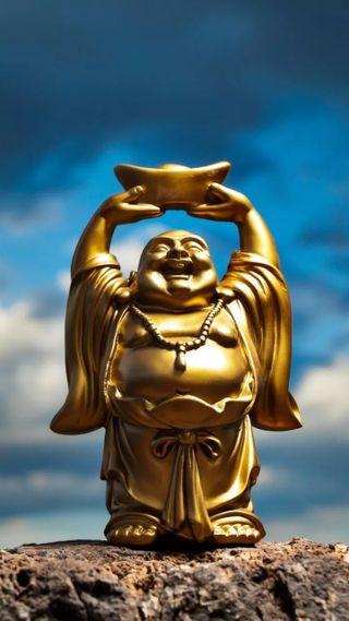 Обои на телефон будда, король, воин, laughing buddha