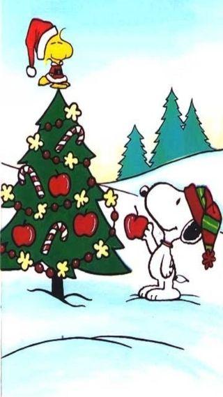 Обои на телефон снупи, рождество, праздник, дерево, woodstock, peanuts