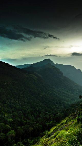 Обои на телефон холм, природа, зеленые