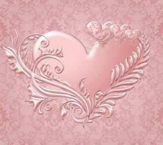 Обои на телефон фон, сердце, розовые, любовь, валентинка, pink hearts, love