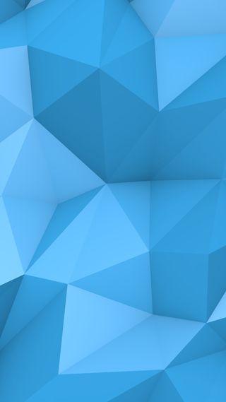 Обои на телефон многоугольник, синие, абстрактные