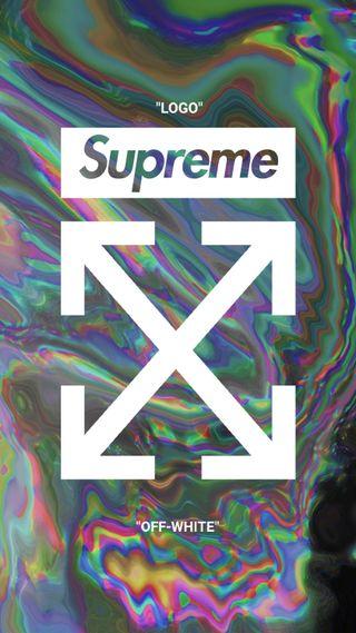Обои на телефон хайп, фотошоп, логотипы, дизайнерские, дизайн, бренды, белые, supreme x off-white, supreme, offwhite, off-white, liquify