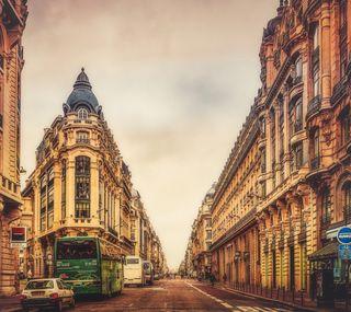 Обои на телефон старые, париж, дорога, город