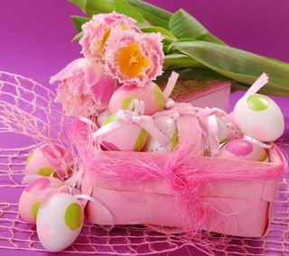 Обои на телефон яйца, празднование, цветы, цветные, украшение, розовые, пасхальные, декор, время, easter time