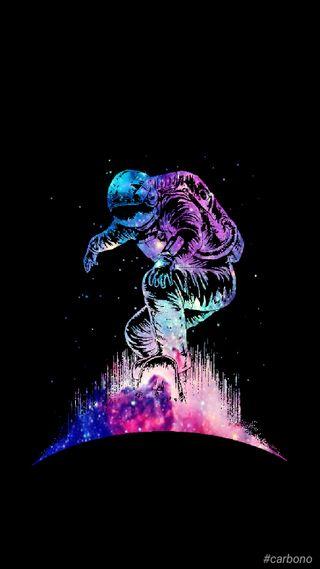 Обои на телефон вселенная, черные, космонавт, герой, аврора