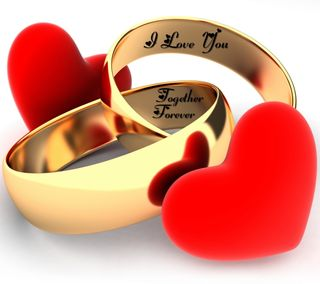 Обои на телефон сердце, романтика, навсегда, любовь, красые, кольца, золотые, вместе, red hearts, love, golden rings, forever together, forever love