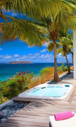 Обои на телефон тропические, спа, роскошные, релакс, праздник, отпуск, курорт, tropical spa, pool, luxury