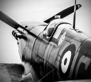 Обои на телефон самолет, ww2, spitfire