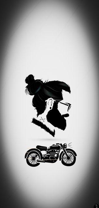 Обои на телефон поездка, мотоцикл, борода, байк, beard bike, addiction